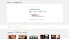 See the advertiser's telephone number