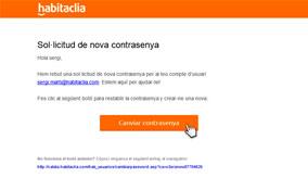 Fes clic a 'Canviar contrasenya'