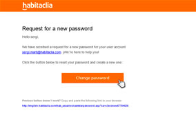 Click on 'Change password'
