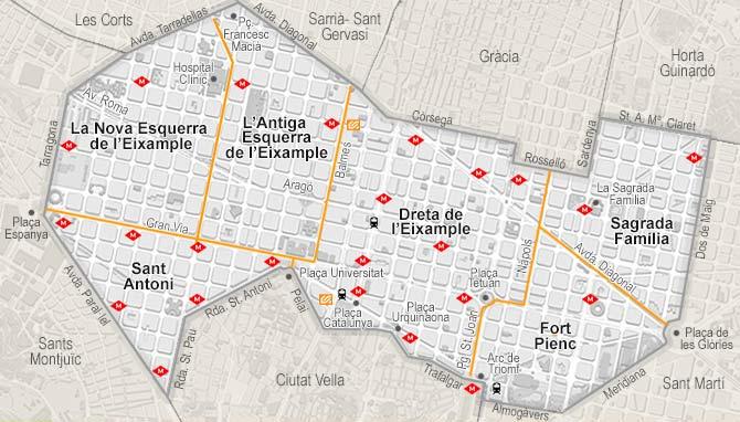 Eixample Dreta Barcelona Mapa.Vivienda De Venta En Eixample Barcelona Habitaclia