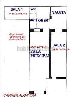Alquiler Local Comercial en Carrer algavira,22. Tres �voltes catalanes� de1700 y patio interior